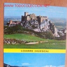 Postales: LOARRE (HUESCA)- I CASTILLO DE LOARRE, II VISTA GENERAL. Lote 16844178