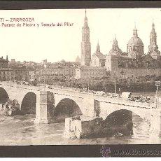 Postales: ZARAGOZA. PUENTE DE PIEDRA Y TEMPLO DEL PILAR. C. Y A. 371. Lote 27493063