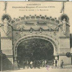 Postales: ZARAGOZA. EXPOSICION HISPANO FRANCESA DE 1908. PUERTA DE ENTRADA.. Lote 11706946