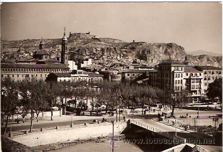 POSTAL CALATAYUD Nº 4 VISTA PARCIAL AL FONDO EL CASTILLO CIRCULADA EDICIONES SICILIA (Postales - España - Aragón Moderna (desde 1.940))