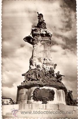 POSTAL ZARAGOZA MONUMENTO SITIOS DE ZARAGOZA (Postales - España - Aragón Moderna (desde 1.940))