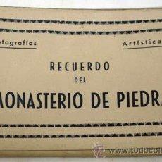 Postales: 10 POSTALES MONASTERIO DE PIEDRA ZARAGOZA DESPLEGABLE CON SU FUNDA AÑOS 50 EDICIÓN ARRIBAS. Lote 12165787