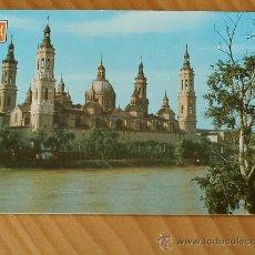 Postales: POSTAL ZARAGOZA. BASILICA DEL PILAR AÑO 1962.. Lote 12373708