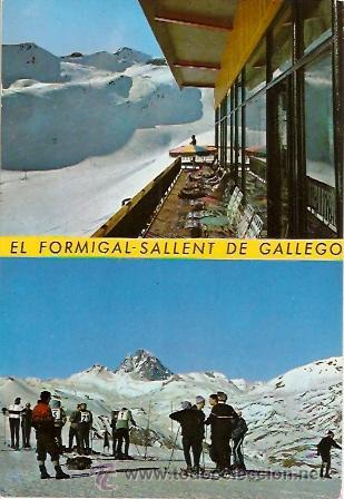 POSTAL FORMIGAL SALLENT DE GALLEGO PISTAS DE SKI (Postales - España - Aragón Moderna (desde 1.940))