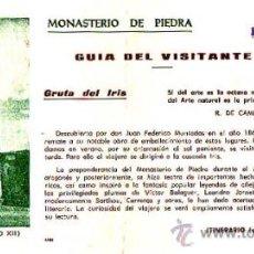 Cartes Postales: MONASTERIO DE PIEDRA, ENTRADA CON ITINERARIO. Lote 13312288