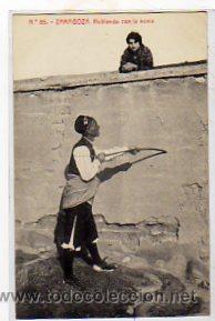 ZARAGOZA N º 85. HABLANDO CON LA NOVIA.1201 FOTOTIPIA THOMAS. BARCELONA. (Postales - España - Aragón Antigua (hasta 1939))