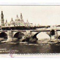 Postales: ZARAGOZA Nº 6. PUENTE DE PIEDRA Y EL PILAR. ACABADO FOTOGRAFICO.. Lote 13806400