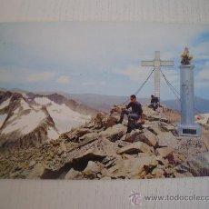 Postales: BENASQUE - PIRINEO ARAGONES - CIMA DEL ANETO 3.404 M. GLACIAR Y CRESTAS DE LAS MALADETAS. Lote 14673158