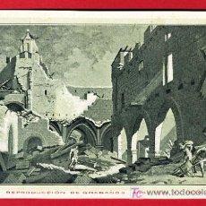 Postales: ZARAGOZA, CENTENARIO DE LOS SITIOS 1908, RUINAS DE ZARAGOZA, COSTADO DE LA IGLESIA, P40093. Lote 15436671
