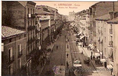 POSTAL ZARAGOZA COSO (Postales - España - Aragón Antigua (hasta 1939))