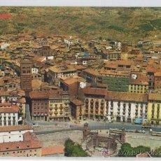 Postales: TARJETA POSTAL VISTA AEREA DE TERUEL AUTOBUS COCHE. Lote 15709589