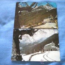 Postales: POSTAL LOTE 2 POSTALES BIELSA PARADOR MONTE PERDIDO INVIERNO Y PRIMAVERA NO CIRCULADAS. Lote 15713105