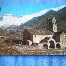 Postales: POSTAL HUESCA LINAS DE BROTO IGLESIA ROMANICA AL FONDO TENDEÑERA NO CIRCULADA. Lote 16263436