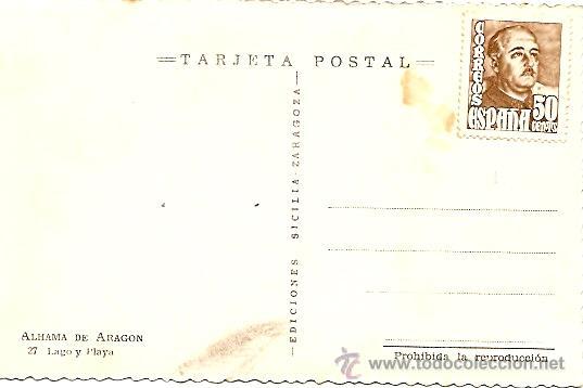 Postales: ALHAMA DE ARAGON - LAGO Y PLAYA - EDICIONES SICILIA - Foto 2 - 16575687