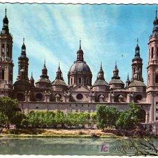 Postales: PRECIOSA POSTAL - ZARAGOZA - TEMPLO DE EL PILAR - FACHADA POSTERIOR. Lote 26778695