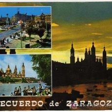 Postales: BONITA POSTAL - ZARAGOZA - VARIAS VISTAS DE LA CIUDAD. Lote 16855058