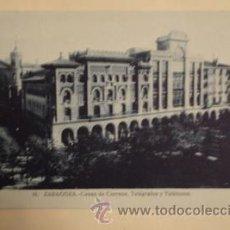 Postales: CASAS DE CORREOS - TELÉGRAFOS - TELEFONOS ZARAGOZA Nº16. Lote 17236632