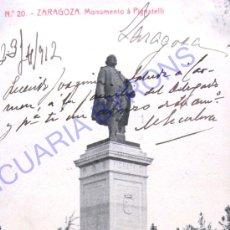 Postales: TARJETA POSTAL DE ZARAGOZA - MONUMENTO A PIGNATELLI (14 X 9 CM). Lote 17374220