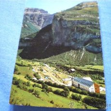 Postales: POSTAL HUESCA TORLA HOTEL ORDESA CAMPING VISTA GENERAL NO CIRCULADA. Lote 17560540