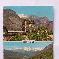 Cartes Postales: BENASQUE / VISTA GENERAL Y TORREON CASA YUSTE / ED. SICILIA N.27 / HUESCA / AÑOS 60 / ESCRITA. Lote 18013721