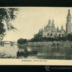 Postales: ZARAGOZA - ORILLAS DEL EBRO - EDICIONES M. ARRIBAS ZARAGOZA. Lote 18148021