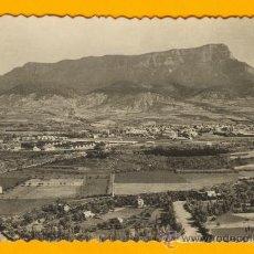 Postales: POSTAL DE JACA VISTA GENERAL, AL FONDO PEÑA OROEL. Lote 18192438