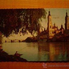 Postales: POSTAL ZARAGOZA BASILICA DEL PILAR CIRCULADA. Lote 18634278