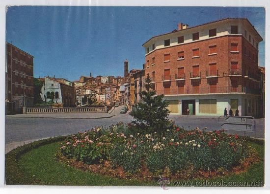 TARJETA POSTAL DE TARAZONA PLAZA DE SAN FRANCISCO ZARAGOZA (Postales - España - Aragón Moderna (desde 1.940))