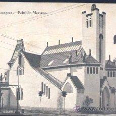 Postales: ZARAGOZA.- EXPOSICIÓN 1908.-PABELLÓN MARIANO. Lote 19283324