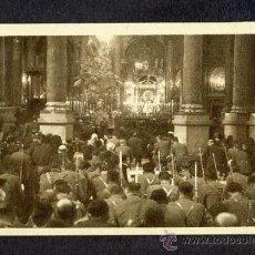 Postales: POSTAL DE ZARAGOZA: OFICIO RELIGIOSO CON ASISTENCIA DE MILITARES EN EL PILAR (FOTO ANGEL CORTÉS). Lote 19784429