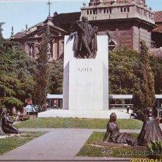 Postales: ZARAGOZA MONUMENTO A GOYA PINTOR UNIVERSAL . Lote 21851768