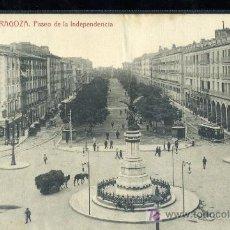 Postales: TARJETA POSTAL ZARAGOZA, PASEO DE LA INDEPENDENCIA. Lote 19848210