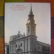 Postcards - POSTAL ZARAGOZA L. ROISIN IGLESIA DE SAN FELIPE SANTIAGO - 27288867