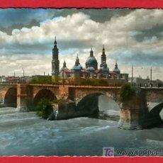 Postkarten - ZARAGOZA, PUENTE DE PIEDRA SOBRE EL EBRO, P41535 - 20181110