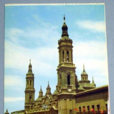 Postales: POSTAL ZARAGOZA CATEDRAL BASILICA PILAR. Lote 20337647