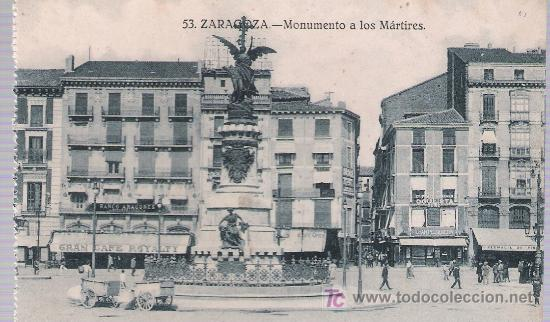 ZARAGOZA.- MONUMENTO A LOS MÁRTIRES. (Postales - España - Aragón Moderna (desde 1.940))