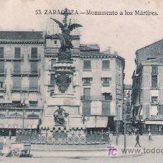 Postales: ZARAGOZA.- MONUMENTO A LOS MÁRTIRES.. Lote 21175102