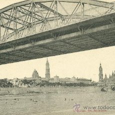 Postales: ZARAGOZA. PUENTE DEL PILAR. HACIA 1920. ESPERANTO.. Lote 21294070