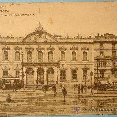 Postales: PLAZA DE LA CONSTITUCIÓN. ZARAGOZA. H.M.-M. SIN CIRCULAR. . Lote 21389649