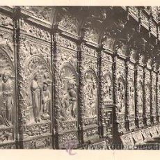 Postales: ZARAGOZA - BASILICA DEL PILAR - CORO. DETALLE DE LA SILLERIA (SIGLO XI). Lote 21527795