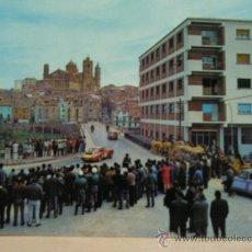 Postales: + ALCAÑIZ TERUEL AÑOS 60 CARRERAS DE COCHES PORSCHE. Lote 21642560