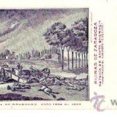 Postales: TARJETA POSTAL DE ZARAGOZA. CENTENARIO DE LOS SITIOS 1908. Nº 17. RUINAS DE ZARAGOZA.. Lote 21733109