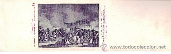 TARJETA POSTAL DE ZARAGOZA. CENTENARIO DE LOS SITIOS 1908. Nº 18. RUINAS DE ZARAGOZA. (Postales - España - Aragón Antigua (hasta 1939))