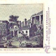 Postales: TARJETA POSTAL DE ZARAGOZA. CENTENARIO DE LOS SITIOS 1908. Nº 21. RUINAS DE ZARAGOZA.. Lote 21733197