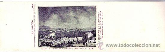 TARJETA POSTAL DE ZARAGOZA. CENTENARIO DE LOS SITIOS 1908. Nº 22. RUINAS DE ZARAGOZA. (Postales - España - Aragón Antigua (hasta 1939))