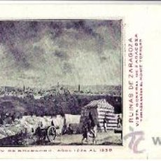 Postales: TARJETA POSTAL DE ZARAGOZA. CENTENARIO DE LOS SITIOS 1908. Nº 22. RUINAS DE ZARAGOZA.. Lote 21733210