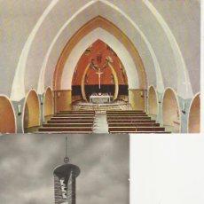 Postales: LOTE DE 2 POSTALES.PIRINEOS CENTRALES PONT DE SUERT.IGLESIA NUEVA.. Lote 21887011