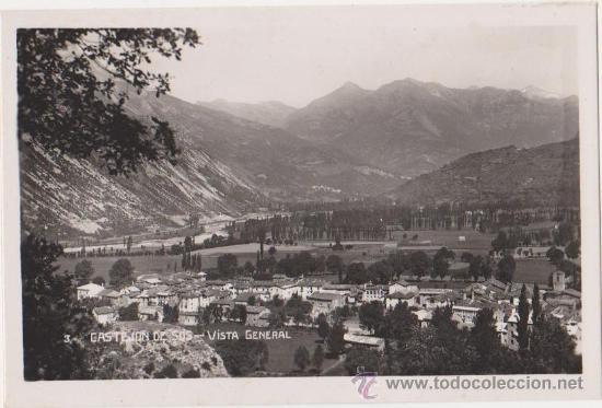 CASTEJON DE SOS VISTA GENERAL (Postales - España - Aragón Antigua (hasta 1939))