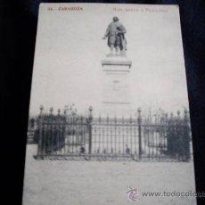 Postales: ZARAGOZA-MONUMENTO A PIGNATELLI. Lote 22541983
