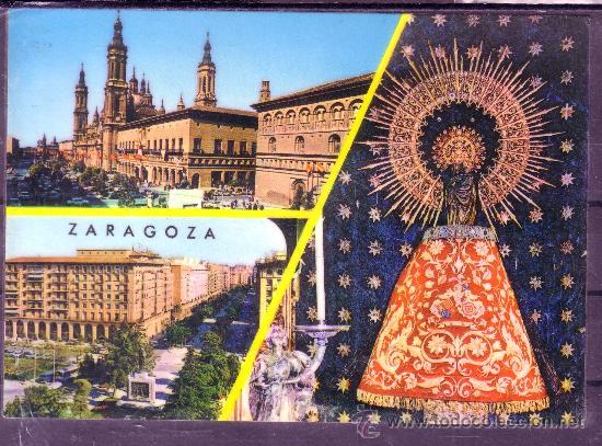 RECUERDO DE ZARAGOZA - VIRGEN DEL PILAR - ZARAGOZA (Postales - España - Aragón Moderna (desde 1.940))